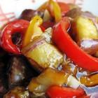 Баклажаны в кисло сладком соусе китайская кухня
